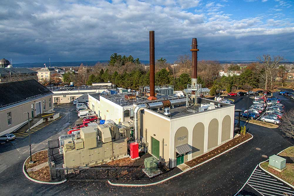 Cogeneration, combined heat and power Plant at Union College, Schenectady NY