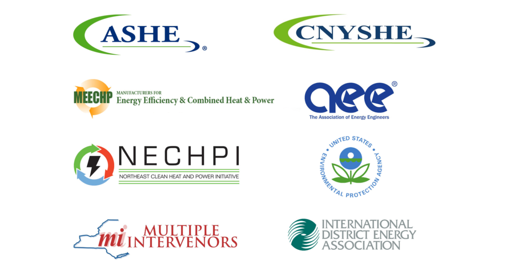 Energy Community - Affiliation and Partners such as ASHE, CNYASHE, NECHPI, Multiple Intervenors, AEE